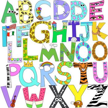 Alphabet Letters Clipart