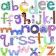 Beginning Sounds A-Z Alphabet Letters Clip Art