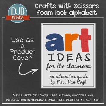 Alphabet Clip Art: Crafts with Scissors Foam Alphabet Letters