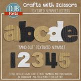 Alphabet Clip Art: Crafts with Scissors Textured Alphabet Letters