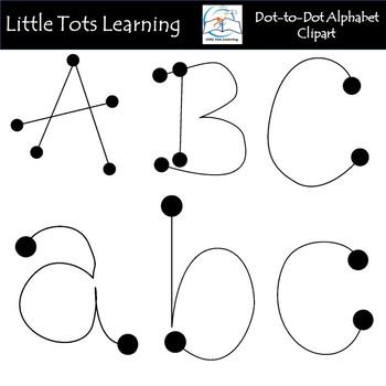 Alphabet Clip Art - Dot to Dot Alphabet Clip Art