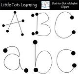 Dot to Dot Alphabet Clip Art