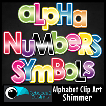 Alphabet Letters Clip Art (Gradient)