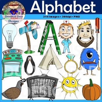 Alphabet Clip Art Bundle, Variety Pack, Starter Set, Mega Bundle