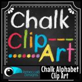 Alphabet Hand Drawn Chalk Letters Clip Art