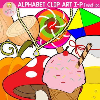 Alphabet Clip Art I-P Freebies