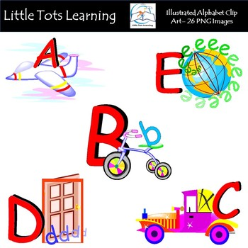 Alphabet Clip Art - Illustrated Alphabet Clip Art - Commercial Use