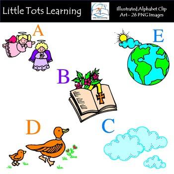 Alphabet Clip Art - Illustrated Alphabet Clip Art - Commercial Use