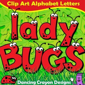 Ladybugs Clip Art Alphabet Letters | Clipart Set