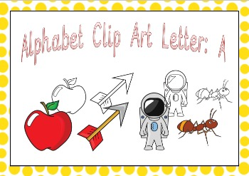 Alphabet Clipart Letter A Phonics Clip Art Commercial Use Fine