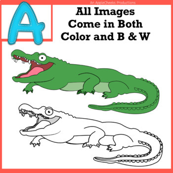 Alphabet Clip Art: Letter A - Phonics Clipart Set - Personal or Commercial Use
