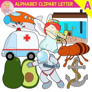 Alphabet Clip Art Letter A-Set