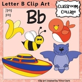 Alphabet Clip Art Letter B - Items start w letter B sound, Color, pers/comm use