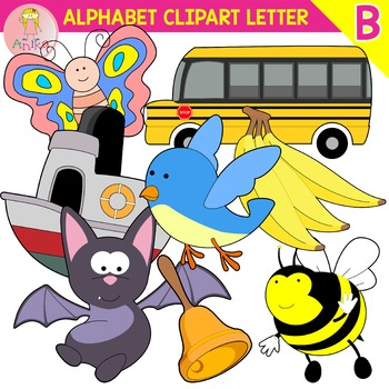 Alphabet Clip Art Letter B-Set