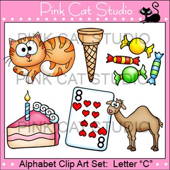 Alphabet Clip Art: Letter C - Phonics Clipart Set - Person