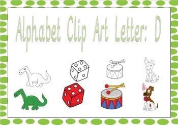 Beginning sound clip Art pictures images: Letter D Phonics clip art