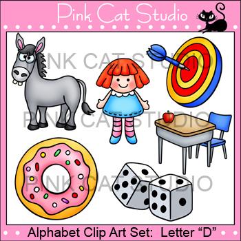 Beginning Sounds Clip Art - Letter D - Alphabet Clip Art