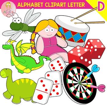Alphabet Clip Art Letter D-Set