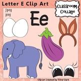 {Alphabet Clip Art Letter E} Items start w letter E sound {Color} pers/comm