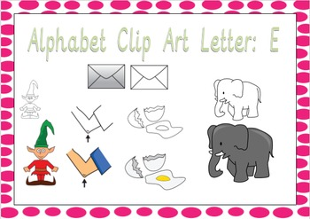 Alphabet Clip Art: Letter E - Phonics Clipart Set - Commer