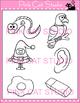 Alphabet Clip Art: Letter E - Phonics Clipart Set - Person