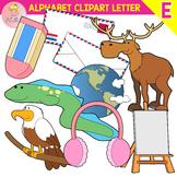 Alphabet Clip Art Letter E-Set