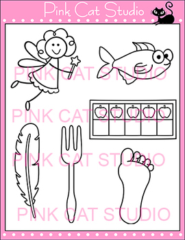 Alphabet Clip Art: Letter F - Phonics Clipart Set - Personal or Commercial Use