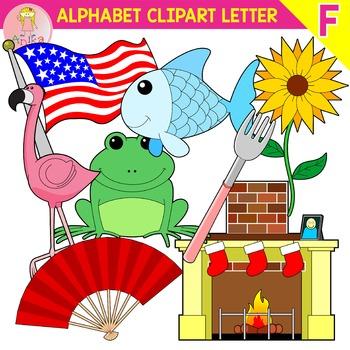 Alphabet Clip Art Letter F-Set