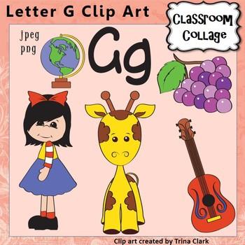 Alphabet Clip Art Letter G - Items start with G - Color -