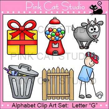 Alphabet Clip Art: Letter G - Phonics Clipart Set - Personal or Commercial Use