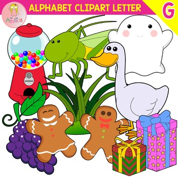 Alphabet Clip Art Letter G-Set