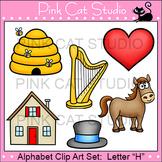 Alphabet Clip Art: Letter H - Phonics Clipart Set - Personal or Commercial Use
