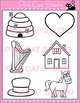 Alphabet Clip Art: Letter H - Phonics Clipart Set - Personal or Commercial Use