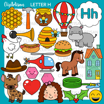 Alphabet Clip Art: Letter H Words