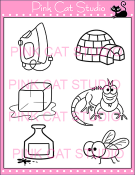 Alphabet Clip Art: Letter I - Phonics Clipart Set - Personal or Commercial Use