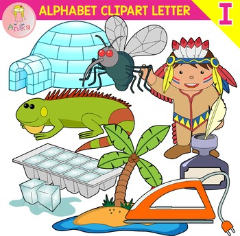 Alphabet Clip Art Letter I-Set