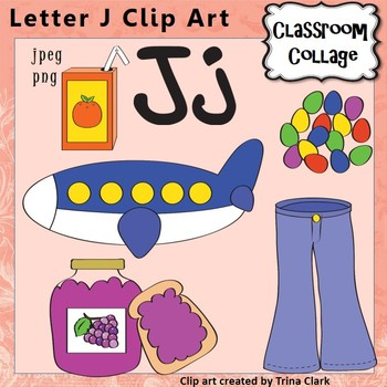 Alphabet Clip Art Letter J - Things start with J {Color} p