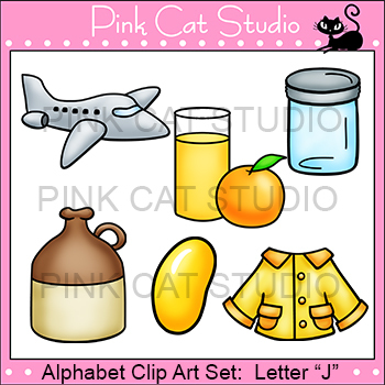 Alphabet Clip Art: Letter J - Phonics Clipart Set - Personal or Commercial Use