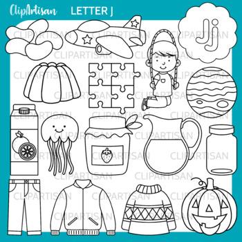 Alphabet Clip Art: Letter J Words
