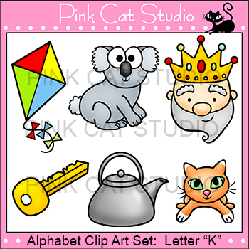 Alphabet Clip Art: Letter K - Phonics Clipart Set - Personal or Commercial Use