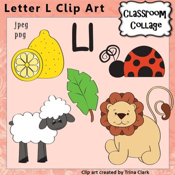 {Alphabet Clip Art Letter L} Items start w letter L {Color