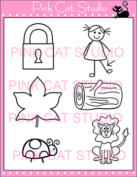 Alphabet Clip Art: Letter L - Phonics Clipart Set - Personal or Commercial Use