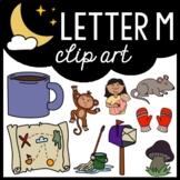 Alphabet Clip Art: Letter M