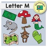 Alphabet Clip Art - Letter M - Phonics Beginning Sounds