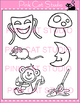 Alphabet Clip Art: Letter M - Phonics Clipart Set - Person