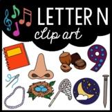 Alphabet Clip Art: Letter N