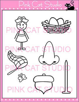 Alphabet Clip Art: Letter N - Phonics Clipart Set - Personal or Commercial Use