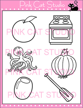 Alphabet Clip Art: Letter O - Phonics Clipart Set - Personal or Commercial Use