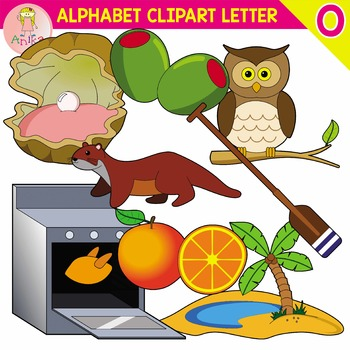 Alphabet Clip Art Letter O-Set