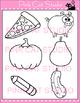 Alphabet Clip Art: Letter P - Phonics Clipart Set - Personal or Commercial Use